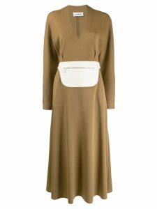 Lanvin belt bag detail dress - Neutrals