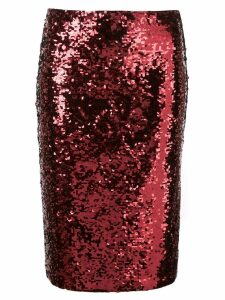 Alice+Olivia Ramos sequinned pencil skirt - Red