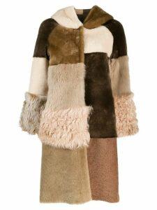 Liska Avolak shearling coat - Neutrals
