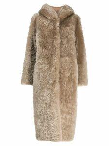 Liska Stampa coat - NEUTRALS