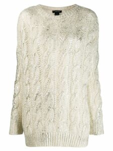 Avant Toi cashmere cable-knit sweater - White