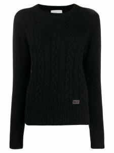be blumarine cable knit jumper - Black