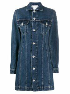 Helmut Lang short denim dress - Blue