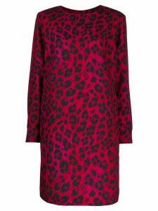 Boutique Moschino leopard pattern mini dress - PINK