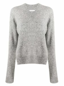 Helmut Lang v-neck jumper - Grey