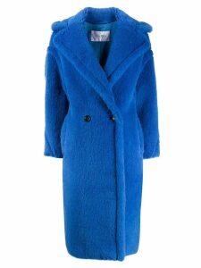 Max Mara faux fur mid-length coat - Blue