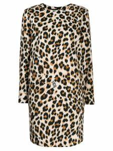 Boutique Moschino leopard print mini dress - Brown