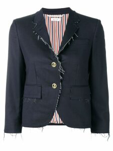 Thom Browne Navy Classic Exposed Seams Sport Coat - Blue