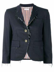 Thom Browne Navy Classic Exposed Seams Sport Coat - Blue