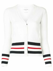 Thom Browne striped trim cardigan - White