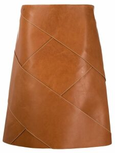 Bottega Veneta Intrecciato midi skirt - Brown