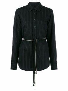 Odeeh belted stripe shirt - Blue