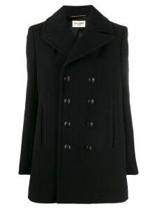 Saint Laurent double-breasted oversized coat - Black