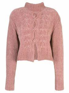 Cushnie cut out jumper - Pink