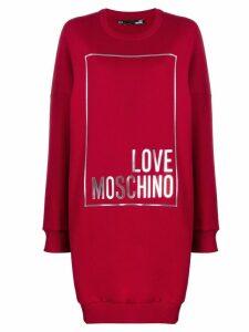 Love Moschino printed sweater dress - Red