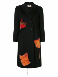 Ports 1961 patch pocket single-breasted coat - Black