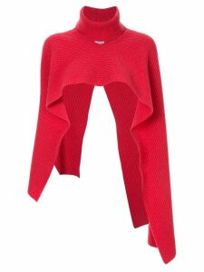 Ports 1961 turtleneck knitted crop sweater - Red