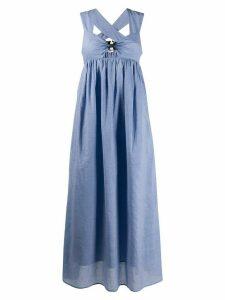 Marysia gingham flare dress - Blue