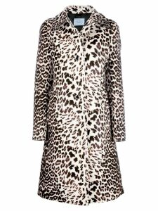 Prada leopard print coat - Neutrals