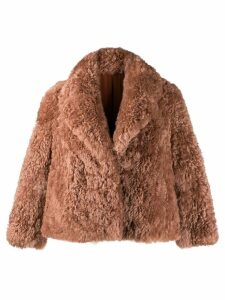 Liska oversized fur jacket - Neutrals