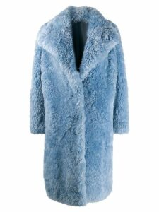 Liska oversized fur coat - Blue