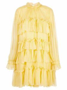 Adam Lippes tiered ruffle dress - Yellow