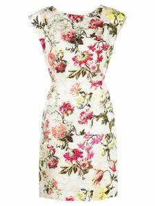 Etro floral print dress - SILVER