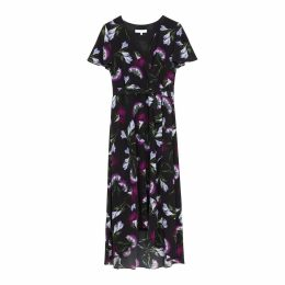 Ethereal London - Luciana Oriental Print Knee Dress