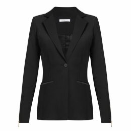 URBAN GILT - Talbot Black Leather Trim Blazer