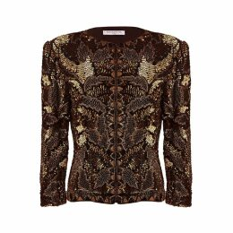 HASANOVA - Queen 3D Sequin Silk Jacket Top