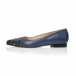 Klements - Patti Dress Gothic Floral Petrol