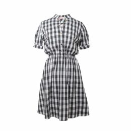 Tomcsanyi - Monor Check Double Button Skirt Dress