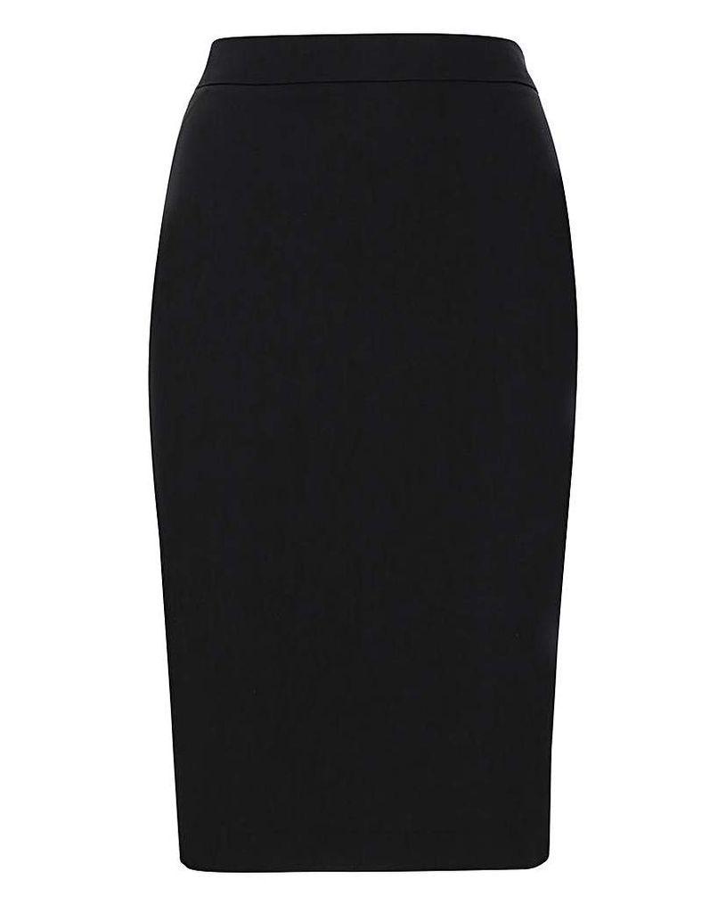 Tailored Black Pencil Skirt
