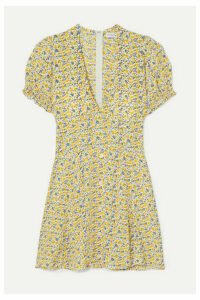 Faithfull The Brand - Rafhaela Floral-print Crepe Mini Dress - Off-white