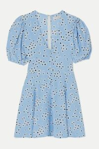 Faithfull The Brand - Ilia Floral-print Crepe Mini Dress - Light blue