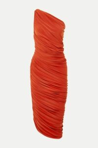 Norma Kamali - Diana One-shoulder Ruched Stretch-jersey Dress - Orange