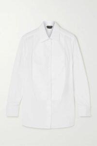 Prada - Faux Fur-trimmed Cable-knit Mohair-blend Cardigan - Purple