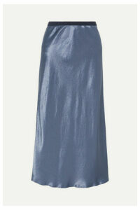 Max Mara - Leisure Alessio Hammered-satin Midi Skirt - Blue