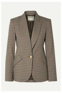L'Agence - Chamberlain Houndstooth Tweed Blazer - Brown