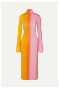 Ellery - Bach Dégradé Stretch-satin Midi Dress - Yellow