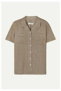 MATIN - Striped Cotton-blend Shirt - Navy