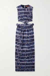 Philosophy di Lorenzo Serafini - Lace-trimmed Sequined Chiffon Mini Skirt - Black