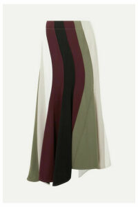 JW Anderson - Paneled Asymmetric Striped Cady Skirt - White