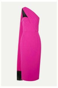 Andrew Gn - One-shoulder Draped Crepe Midi Dress - Fuchsia