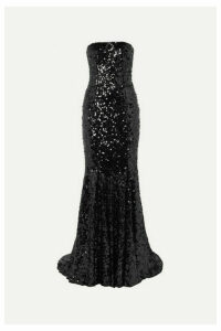 Dolce & Gabbana - Strapless Sequined Tulle Gown - Black