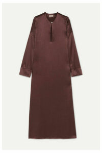 MATIN - Palma Silk-satin Midi Dress - Brown