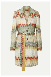 Missoni - Belted Crochet-knit Trench Coat - Neutral