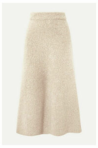 Gabriela Hearst - Pablo Cashmere And Silk-blend Bouclé Midi Skirt - Ecru
