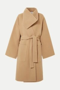 JW Anderson - Belted Wool And Cashmere-blend Coat - Beige