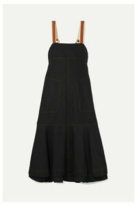 Lee Mathews - Lucien Tiered Poplin Maxi Dress - Black